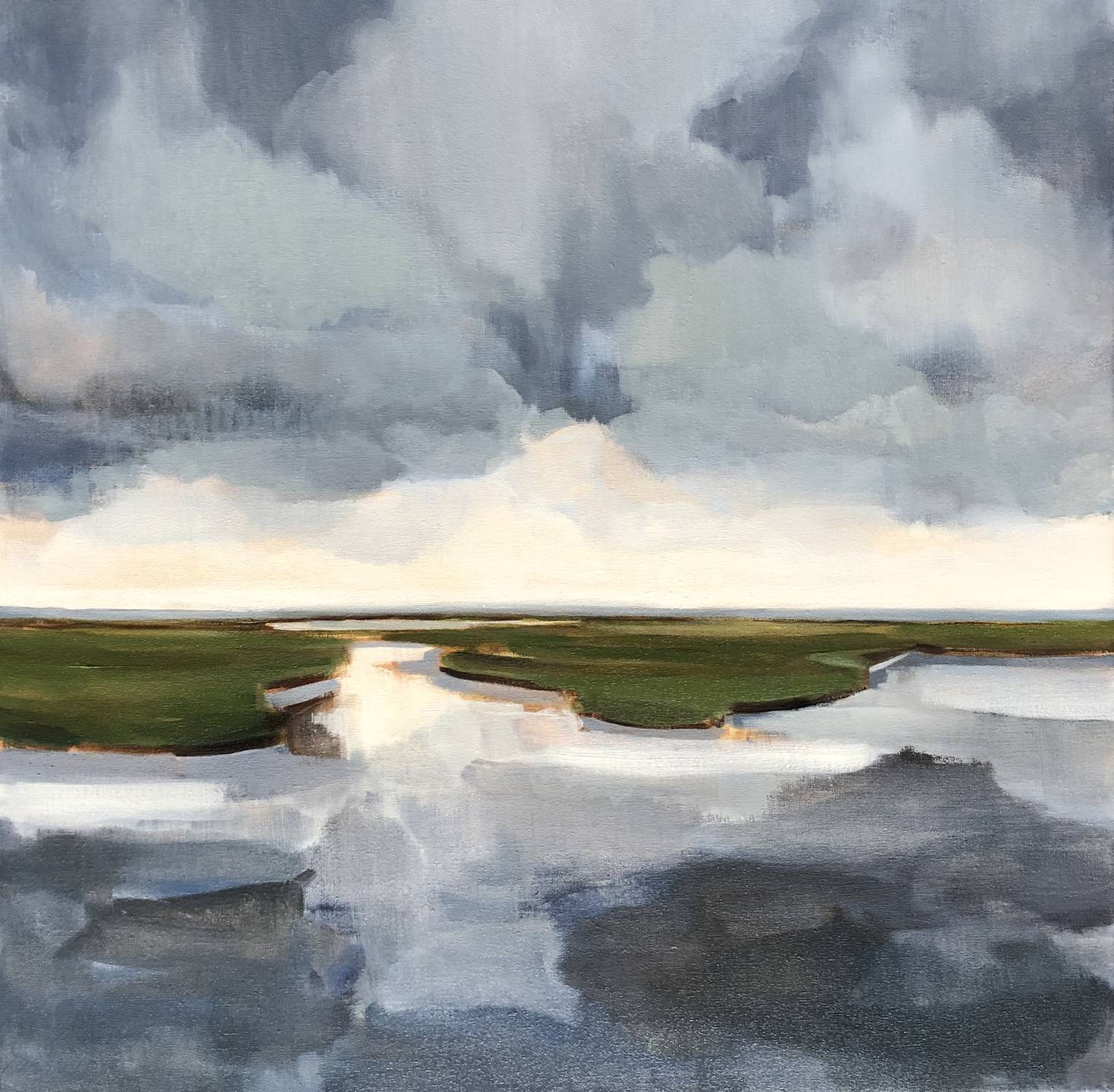 Dutch weather - Stella Burggraaf - 70 x 70 - oil on canvas